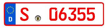 rotes kennzeichen- händlerkennzeichen